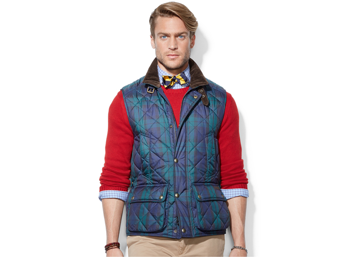 Quilted Tartan Men  Jackets