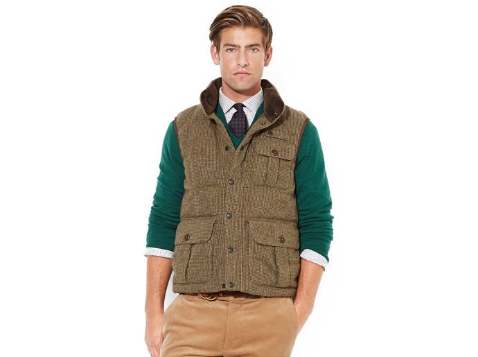 Quilted Tweed vest