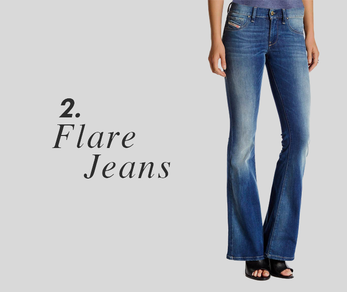 4d21271d53dc49 Flare. SKINNY: A body hugging fit throughout the leg is skinny jeans. They  are super slim, very trendy and an omnipresent part of our wardrobe.