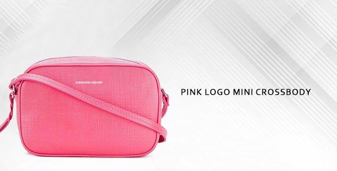 Alexander Mcqueen Pink Logo Mini Crossbody