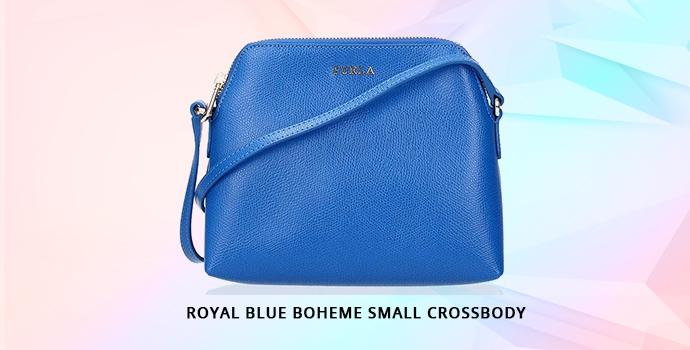 Furla Royal Blue Boheme Small Crossbody | Darveys