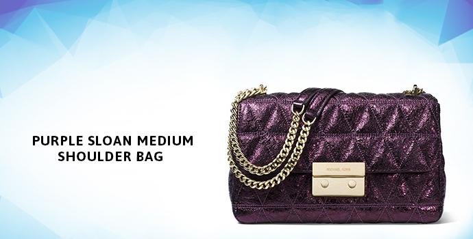 MICHAEL KORS Purple Sloan Medium Shoulder Bag