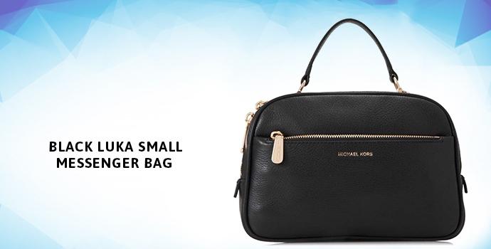MICHAEL KORS Black Luka Small Messenger Bag