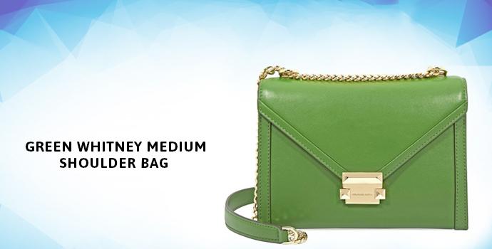 MICHAEL KORS Green Whitney Medium Shoulder Bag