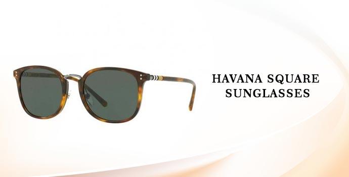 Burberry Havana Square Sunglasses