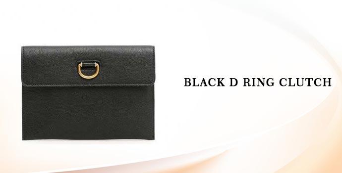 Burberry Black D Ring Clutch