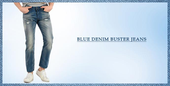DIESEL Blue Denim Buster Jeans