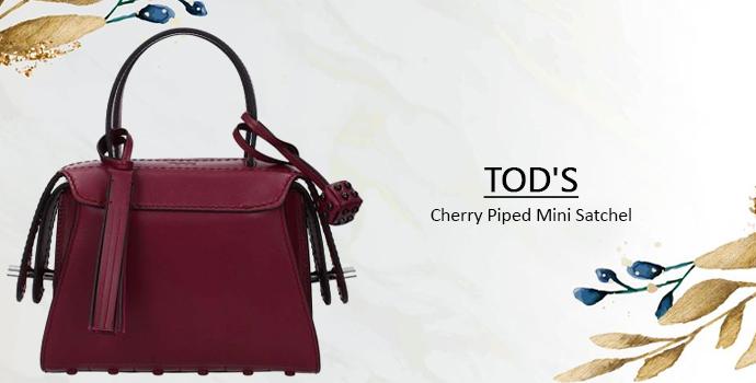 TOD'S Cherry Piped Mini Satchel women handbag
