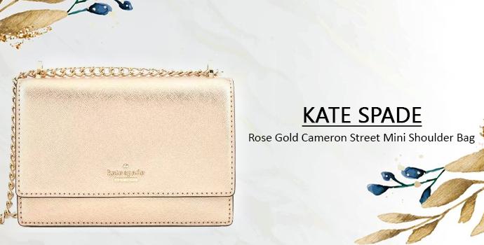 KATE SPADE Rose Gold Cameron Street Mini Shoulder Bag