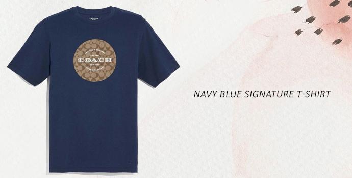 Coach navy blue t shirt