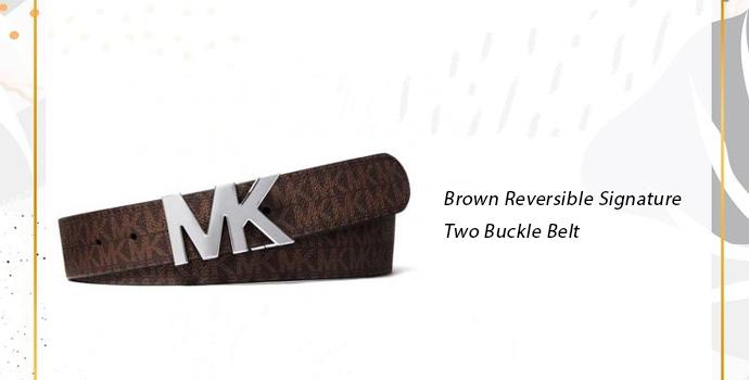 Michael Kors Brown Reversible Signature Two Buckle