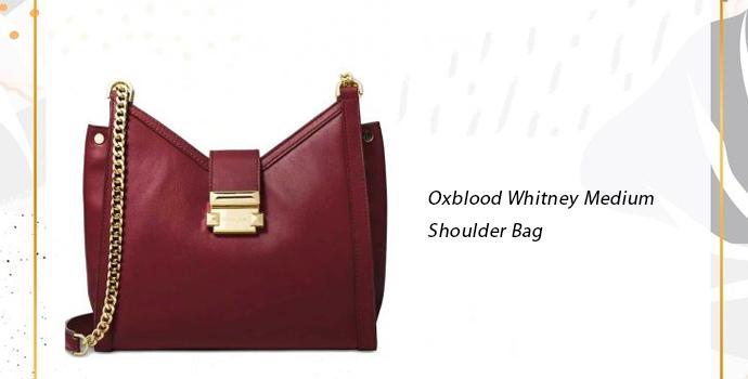 Michael Kors Oxblood Whitney Medium Shoulder Bag