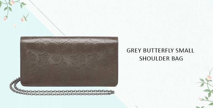 Bottega Veneta Grey Butterfly Small Shoulder Bag