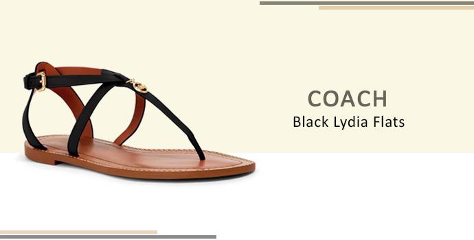 Coach Black Lydia Flats