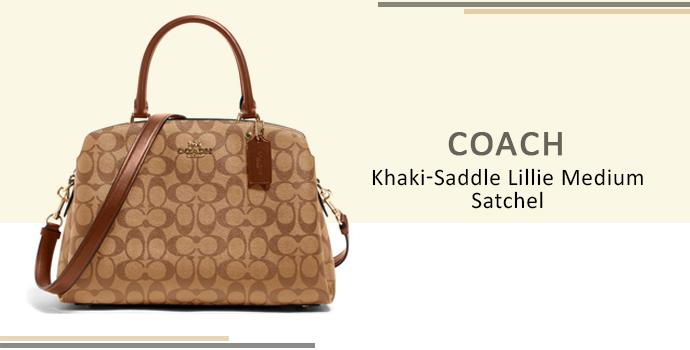 Coach Khaki Saddle Lillie Small Satchel