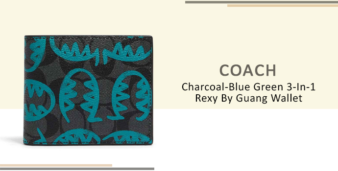 Coach Charcoal-Blue Green 3-In-1 Rexy By Guang