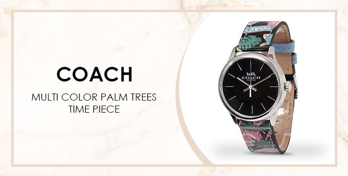 Coach palm trees watch