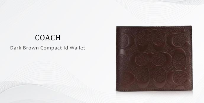 Dark brown compact wallet