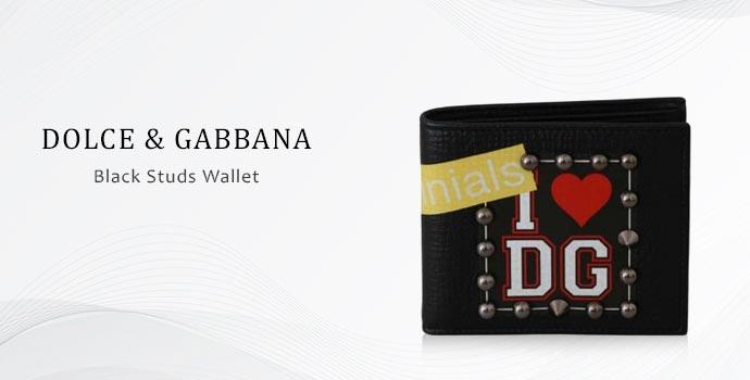 Black studs wallet by Dolce & Gabbana