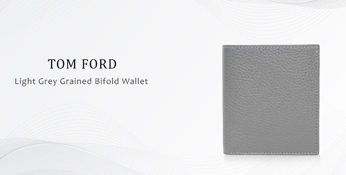 Light grey-grained bifold wallet from Tom Ford