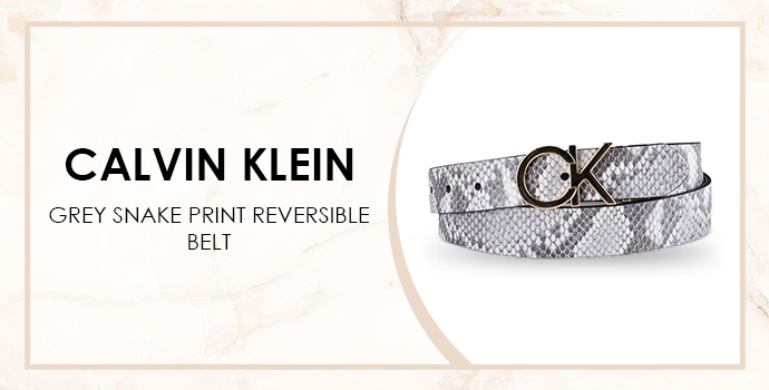 snake print belt Calvin Klein