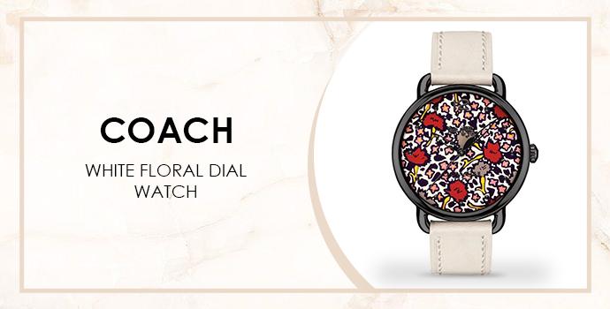 floral Coach watch