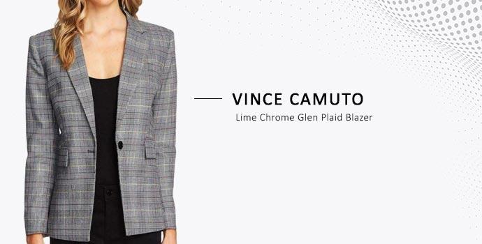 Vince Camuto plaid blazer