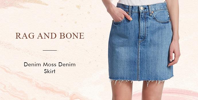 Rag and Bone denim moss denim skirt