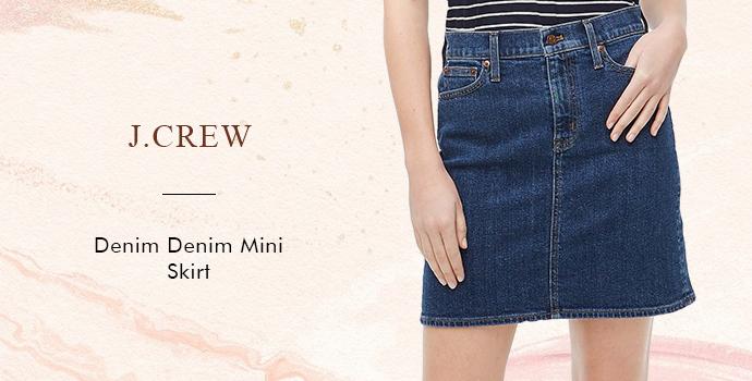 J. Crew Denim Denim Mini Skirt