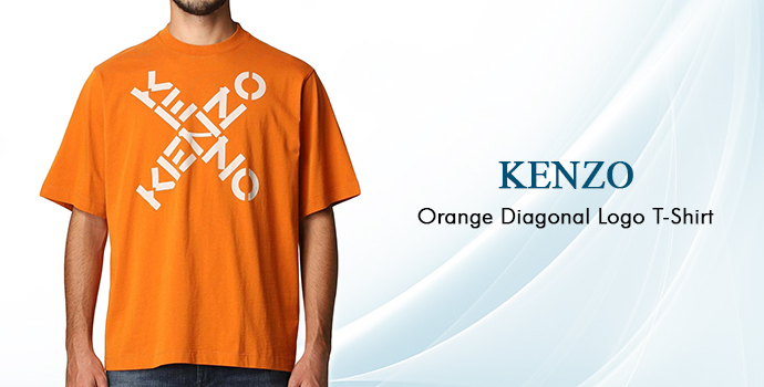 Kenzo Orange Diagonal Logo T-shirt