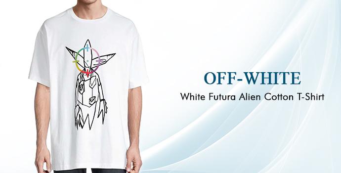Off White White Futura Alien Cotton T-shirt