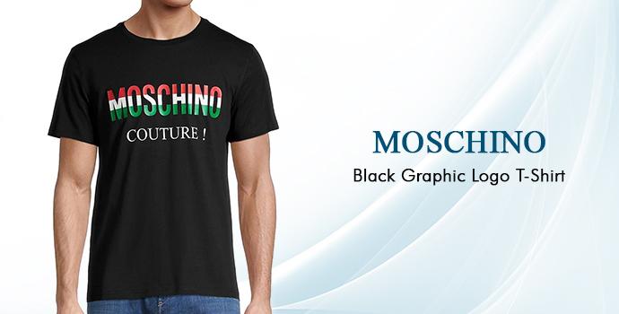 Moschino Black Graphic Logo T-shirt