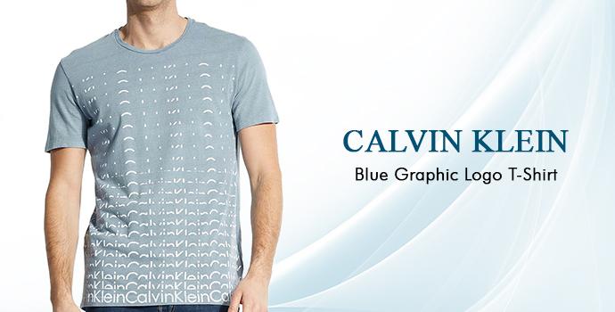 Calvin Klein Blue Graphic Logo T-shirt