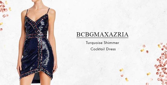 BCBGMaxazria Turquoise Shimmer Cocktail dress