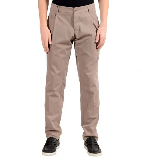 cc5ac27e72 Dolce & Gabbana Beige Pleated Dress Pants for Men Online India at ...