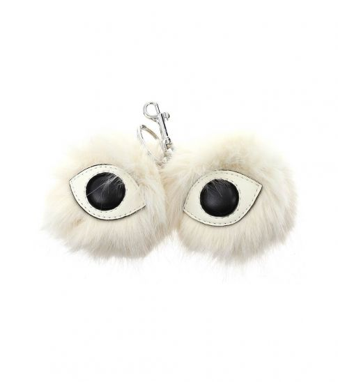 Stella McCartney White Fur Eye Key Holder