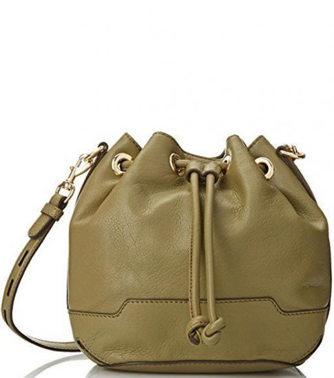 c89c7526dab Rebecca Minkoff Khaki Fiona Small Bucket Bag for Women Online India ...