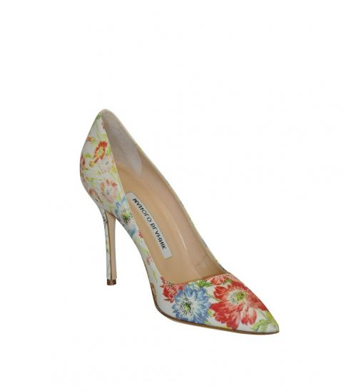 0a714b48f64 Manolo blahnik Floral Print Classic Heels for Women Online India at ...