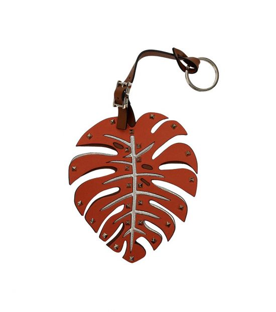 Valentino Garavani Orange Leaf Key Holder