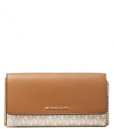 faddfce21 Michael Kors Vanilla Acorn Convertible Small Shoulder Bag