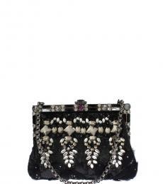 8ce684c4c4 Dolce   Gabbana Black Crystal Medium Shoulder Bag